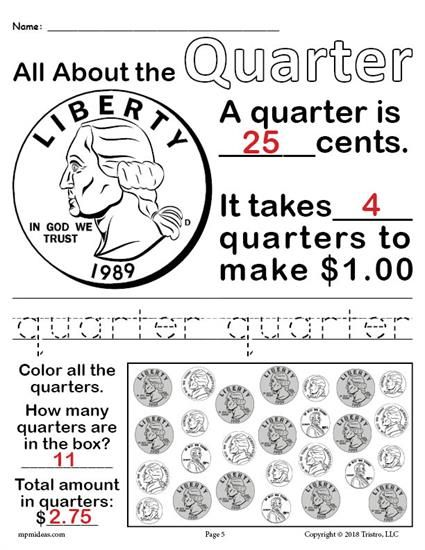 All About Coins 4 Printable Money Worksheets Money Worksheets First Grade Worksheets Money Kindergarten