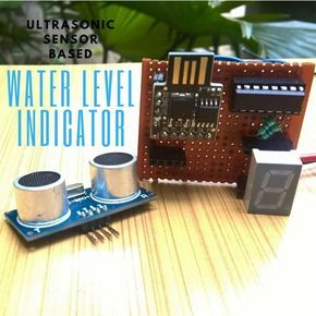 Ultrasonic Sensor Based Water Level Indicator Electronique