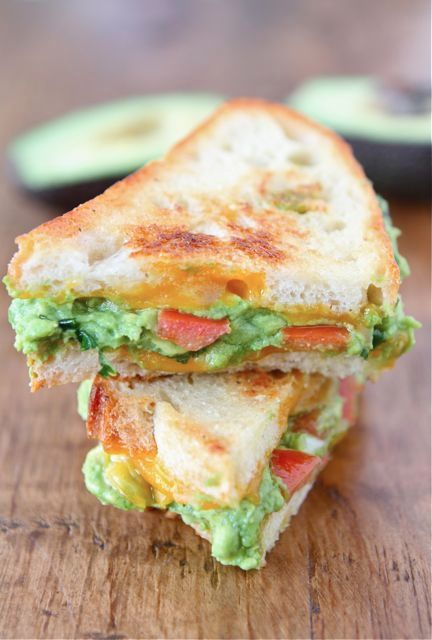 Guacamole Grilled Cheese Sandwich Recipe on twopeasandtheirpod.com The BEST grilled cheese sandwich!
