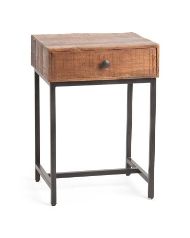 Mango Wood Hermione End Table Accent Furniture T J Maxx Table Home Decor Home Office Storage