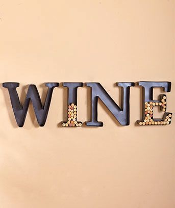 Metal Monogram Wine Cork Holders by LTD. I may have to get this! Love this! Would make a great Christmas present hint hint.