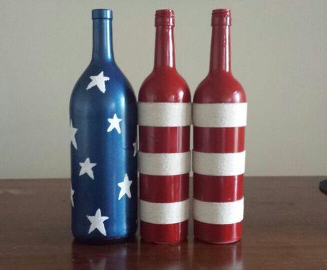 Fourth of July wine bottles!
