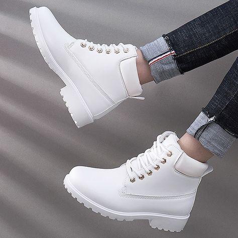 flat snow velvet martin ankle boots PU27