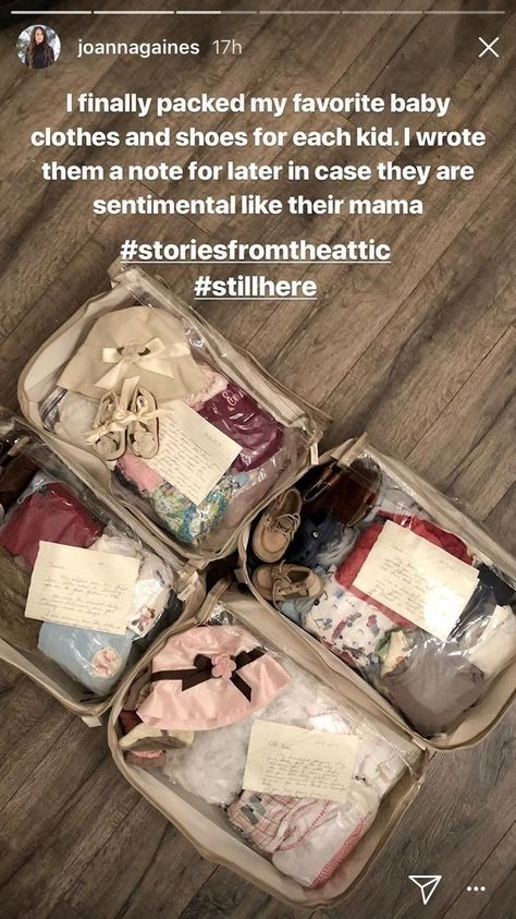 Joanna Gaines Put Together The Sweetest Keepsakes For Her Kids of Their Old Baby Clothes