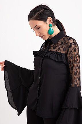 rkt 9917 ust dantel detayli yetim kol bluz kadin kadin olmak ust giyim