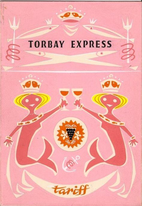 vintage torbay express menu cover