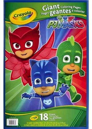 Crayola Giant Coloring Pages Pj Masks Designs Trend