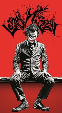 Postergully Specials The Joker Red Black Artwork Postergully Joker Painting Joker Poster Joker Wallpapers