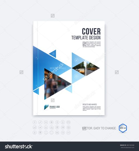Business vector set Brochure template layout, cover design annual - annual report cover template