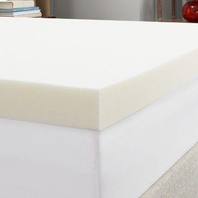 Twin 4 Memory Foam Mattress Topper White Authentic Comfort Memory Foam Mattress Topper Memory Foam Mattress Mattress Topper