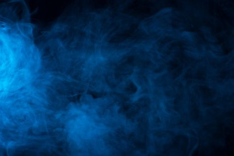 Blue Smoke Texture On A Black Background