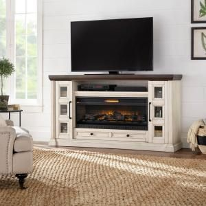 Home Decorators Collection Parkbridge 68 In Freestanding Infrared Electric Firep Electric Fireplace Living Room Electric Fireplace Tv Stand Fireplace Tv Stand