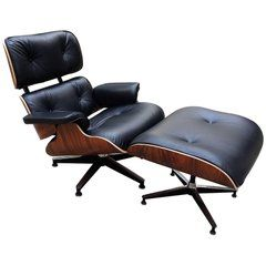 Lounge Chair Charles Eames And Ottoman Black