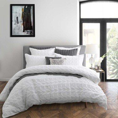 Upton White Quilt Cover Set King Bed In 2021 White Quilt Cover Quilt Cover Sets Quilt Cover