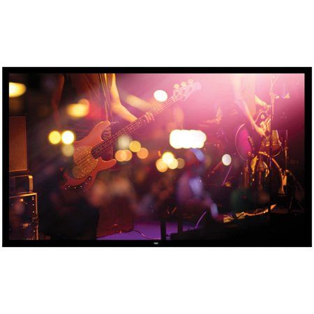 Pyle Prjtpfl102 Fixed Wall Mount Projector Screen 100 Inch Black Projection Screen Wall Mount Frame