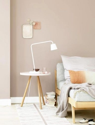 Living With Painting Pastel As A Mural With Colorful Furniture Bedroom Wall Colors Bedroom Interior Taupe Walls