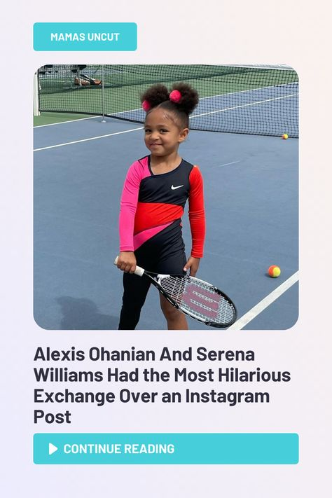Alexis Ohanian, Sr. and Serena Williams' daughter, Olympia, seems to be getting a lot of practice in for you know, that one sport her mom dominates in.