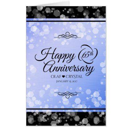Jumbo 65th Blue Sapphire Wedding Anniversary Card Zazzle Com Wedding Anniversary Cards Silver Wedding Anniversary Anniversary Cards