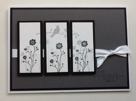 Stampin up silhouette sentiments