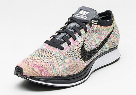 The #Nike flyknit racer 'multi color' is back on the 13th