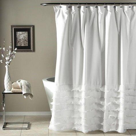 Shabby Chic Shower Curtain Clawfoot Tub Bathroom Decor Romantic Bath Curtains Shabbychicbathrooms