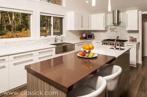 White & Brown Clean Lines Modern Kitchen   Classic Kitchen & Bath Boico Design Group