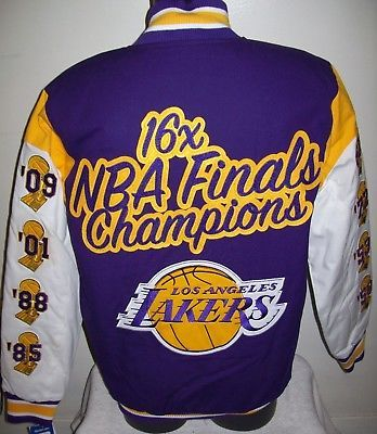 Los Angeles Lakers 16 Time Nba Finals Championship Jacket Sewn Logos 3x 4x 5x Los Angeles Lakers Nba Finals Lakers