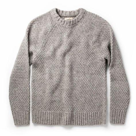 The Fisherman Sweater in Heather Ash