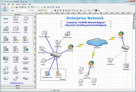 Network Topology Diagram  Network Diagrams Tool  The Easiest Way