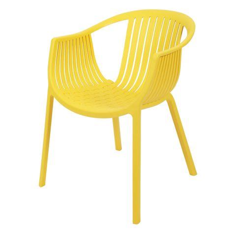 Gartenstuhl design  Hochwertiger Design Gartenstuhl 'JOE' in gelb aus PP-Kunststoff ...