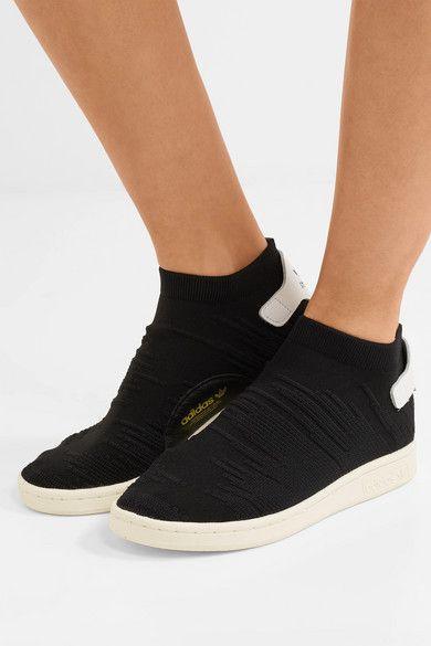 Noir Baskets sans lacets en Primeknit à finitions en cuir ...