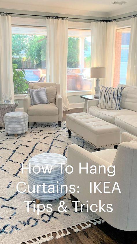 How To Hang Curtains: IKEA Tips & Tricks by thetarnishedjewelblog.com