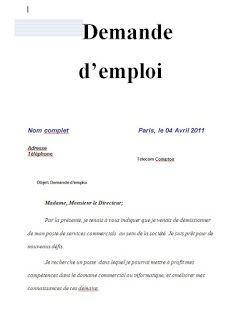 8 Demandes Manuscrites De Recrutement En Word Doc Word Doc Cv Words French Expressions