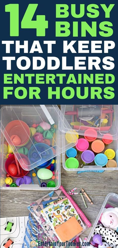 Looking for great busy bin ideas? Or wondering what a busy bin or bag even is? Here are 14 great examples for toddlers. Activities For 1 Year Olds, Fun Activities For Toddlers, Rainy Day Activities, Preschool Learning Activities, Infant Activities, Family Activities, Summer Activities, Toddler Activity Bags, Toddler Busy Bags