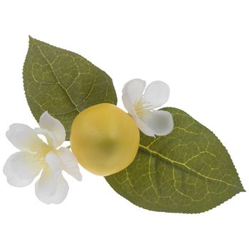 Lemon Leaves Napkin Ring In 2020 Lemon Leaves Leaves Napkin Rings