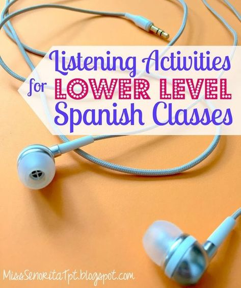 I like to include listening activities in my Spanish classes as much as I can. I… I like to include listening activities in my Spanish classes as much as I can. It can be seriously challenging to find good listening act… Spanish Teaching Resources, Spanish Activities, Spanish Language Learning, Listening Activities, Spanish Games, Spanish Worksheets, Listening Skills, Teaching Ideas, Teaching Strategies