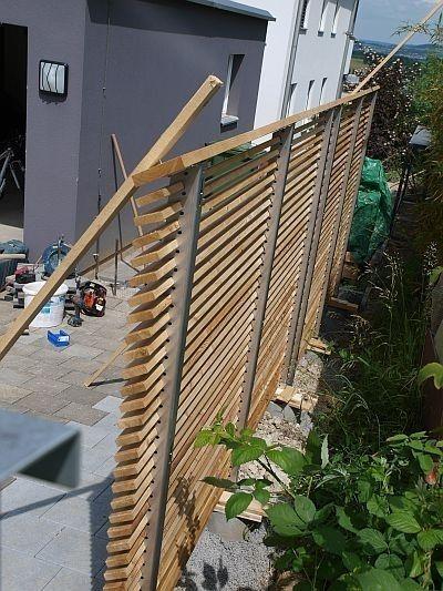 Naturlook Sichtschutz Terrasse Holz Modern Selber Bauen Fur