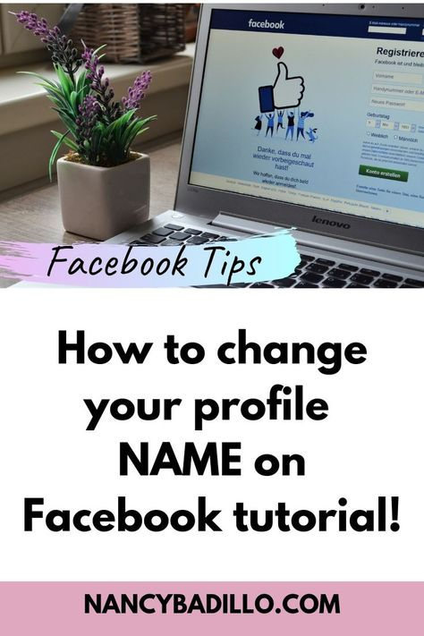 How To Change My Profile Name On Facebook 2020