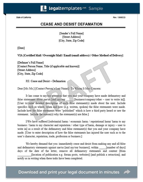 cease and desist letter create free legal template word pdf - cease and desist letter template