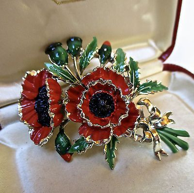 e8e21534fd0 Details about VINTAGE JEWELLERY EXQUISITE ENAMEL FUSCHIA FLOWERS BIRTHDAY BROOCH  PIN | Pinkpassionista's world | Vintage jewelry, Jewelry, Poppy brooches
