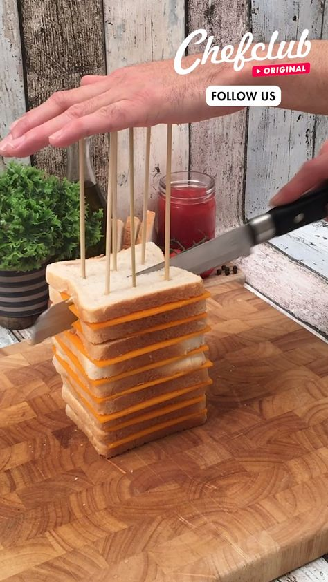 Check out this twist on the classic combination of grilled cheese and tomato soup! This mountain of tomato soup complete with grilled cheese dippers! Warm-up with this perfect Sweater Weather meal! Find more recipes at Chefclub.tv!