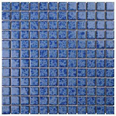 Watersplash Square Catalan 11 3 4 In X 11 3 4 In X 6 Mm Porcelain Mosaic Tile Mosaic Tiles Porcelain Mosaic Tile Porcelain Mosaic