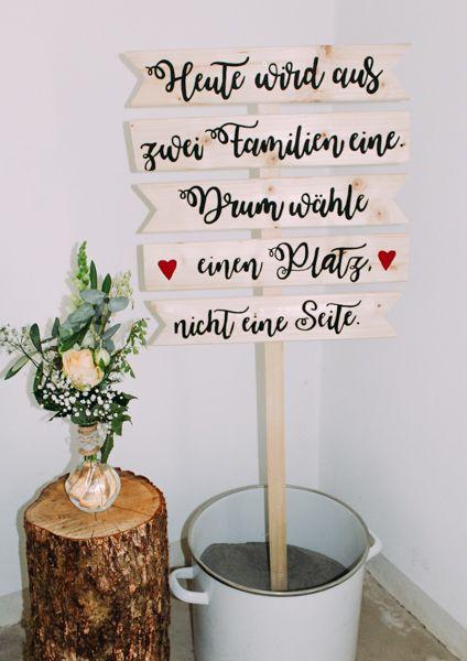 Deko Fur Die Freie Trauung Hochzeit Willkommensschilder