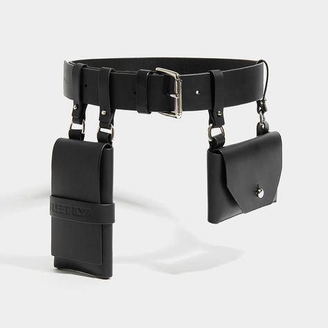 DOUBLE POCKET BELT - BLACK - Fleet Ilya