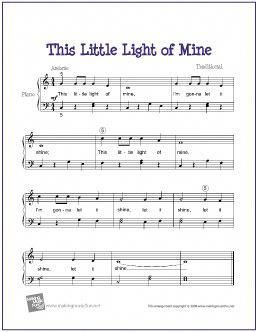 This Little Light Of Mine With Images Easy Piano Sheet Music