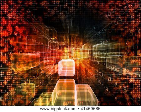 Colorful Virtual Space Poster Technology Posters Poster Color