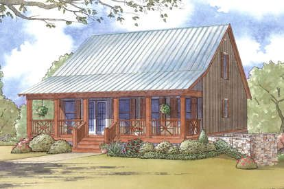 House Plan 8318 00020 Cabin Plan 1 661 Square Feet 3 Bedrooms 3 5 Bathrooms Porch House Plans Country Style House Plans Country House Plans