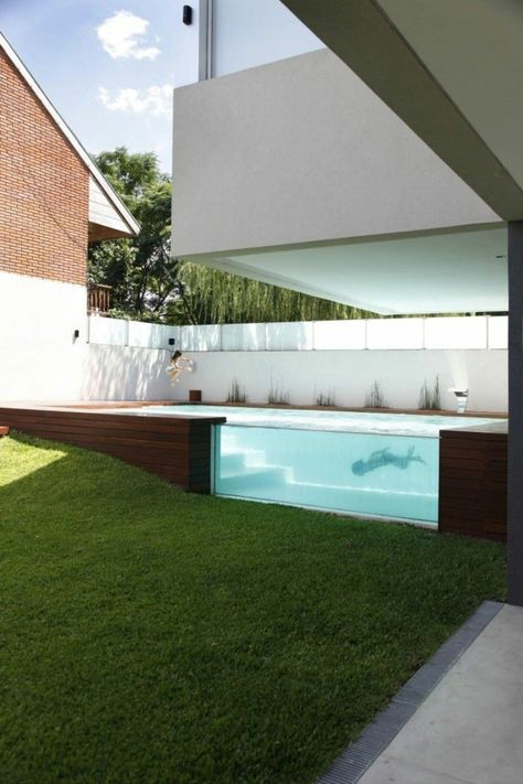 16 best Piscine images on Pinterest Home ideas, Pools and Arquitetura - piscine hors sol beton aspect bois