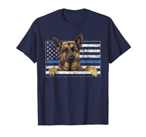 Thin Blue Line K9 Shirt German Shepherd Police Officer Gifts T-Shirt