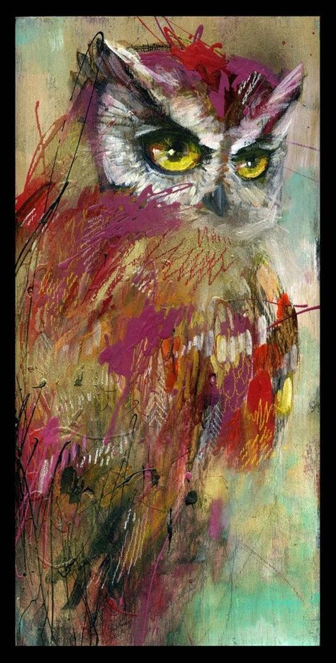 Items similar to Owl Art Print - Bird Wall Art - Owl Artwork - Owl Print -